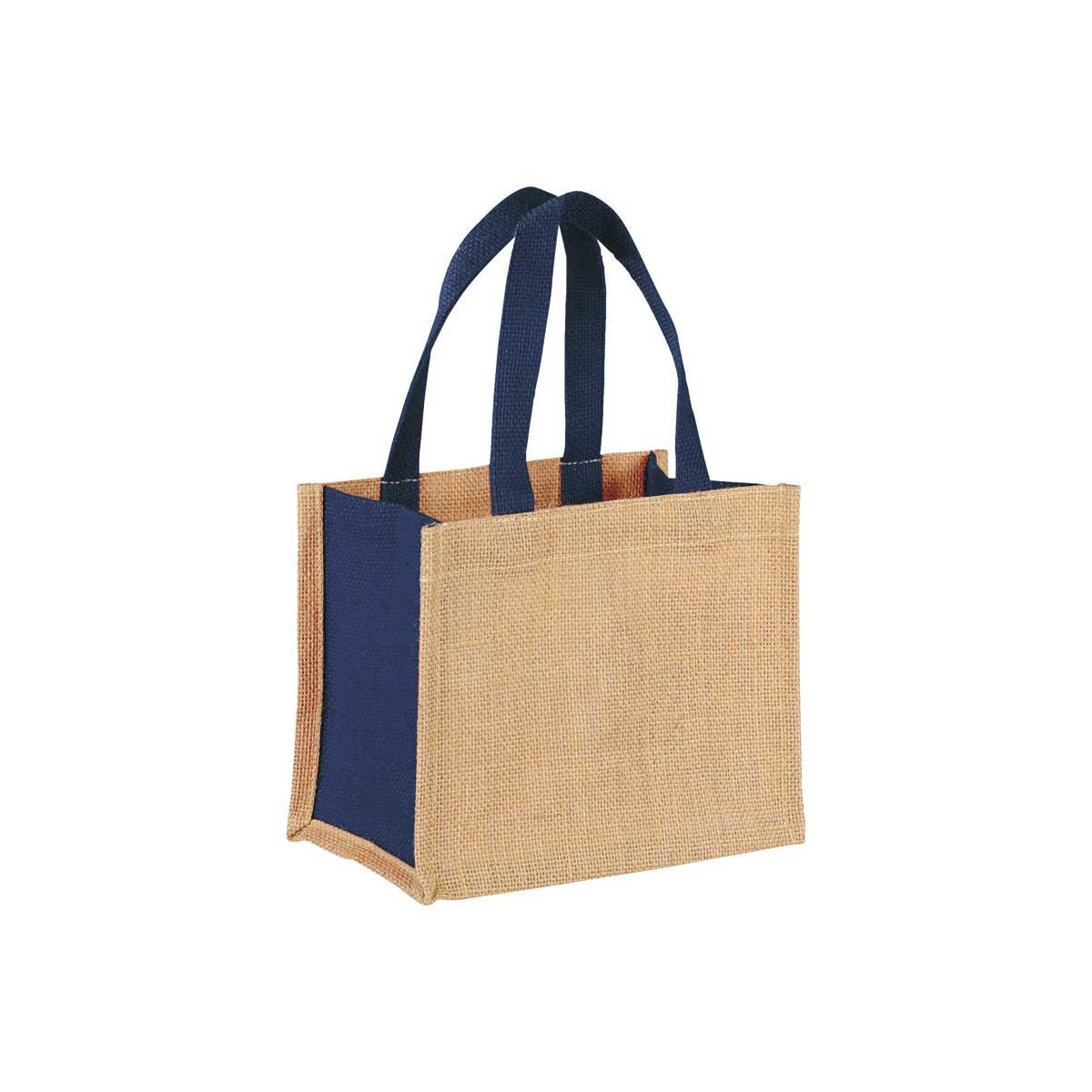 Blue jute giftbag