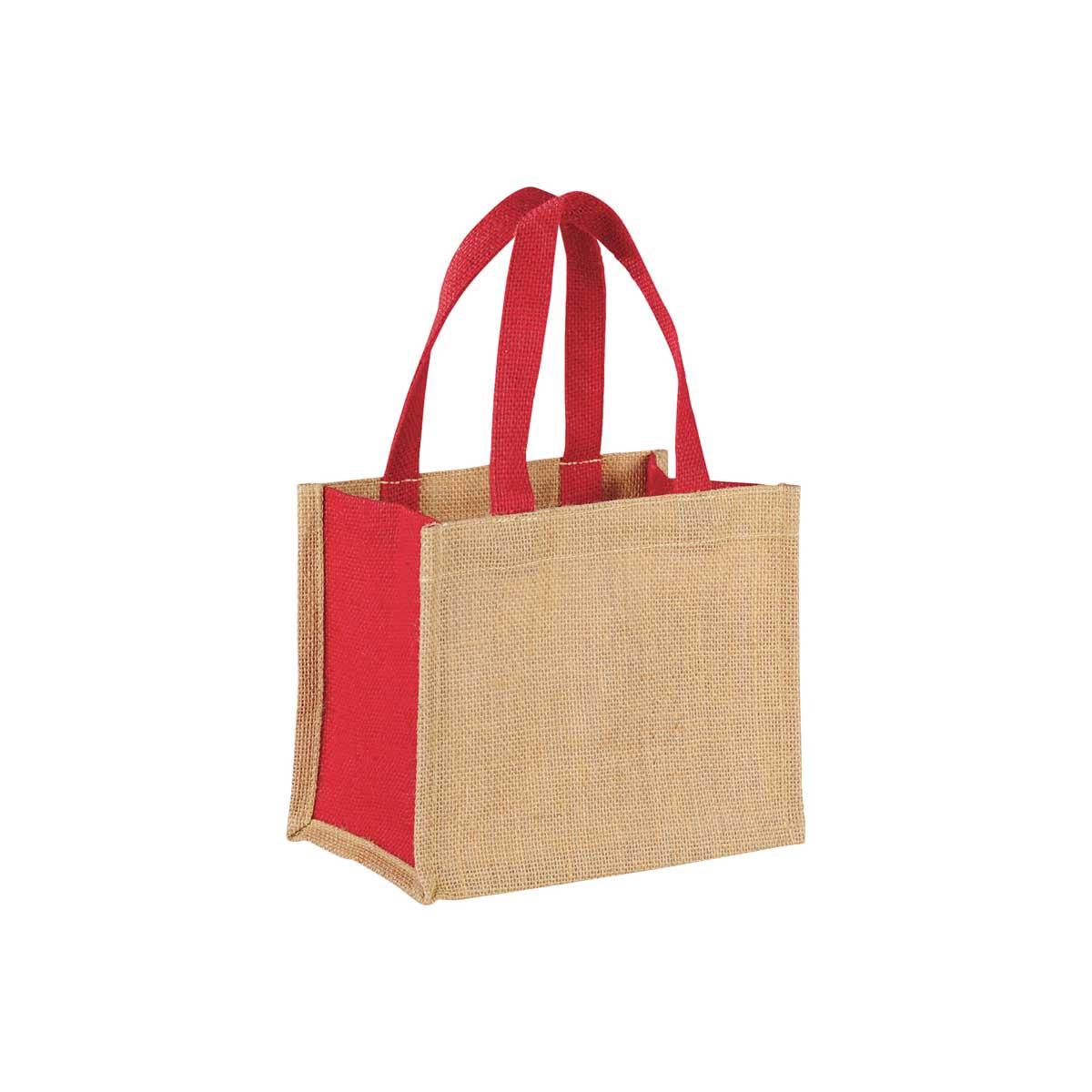 Red jute giftbag