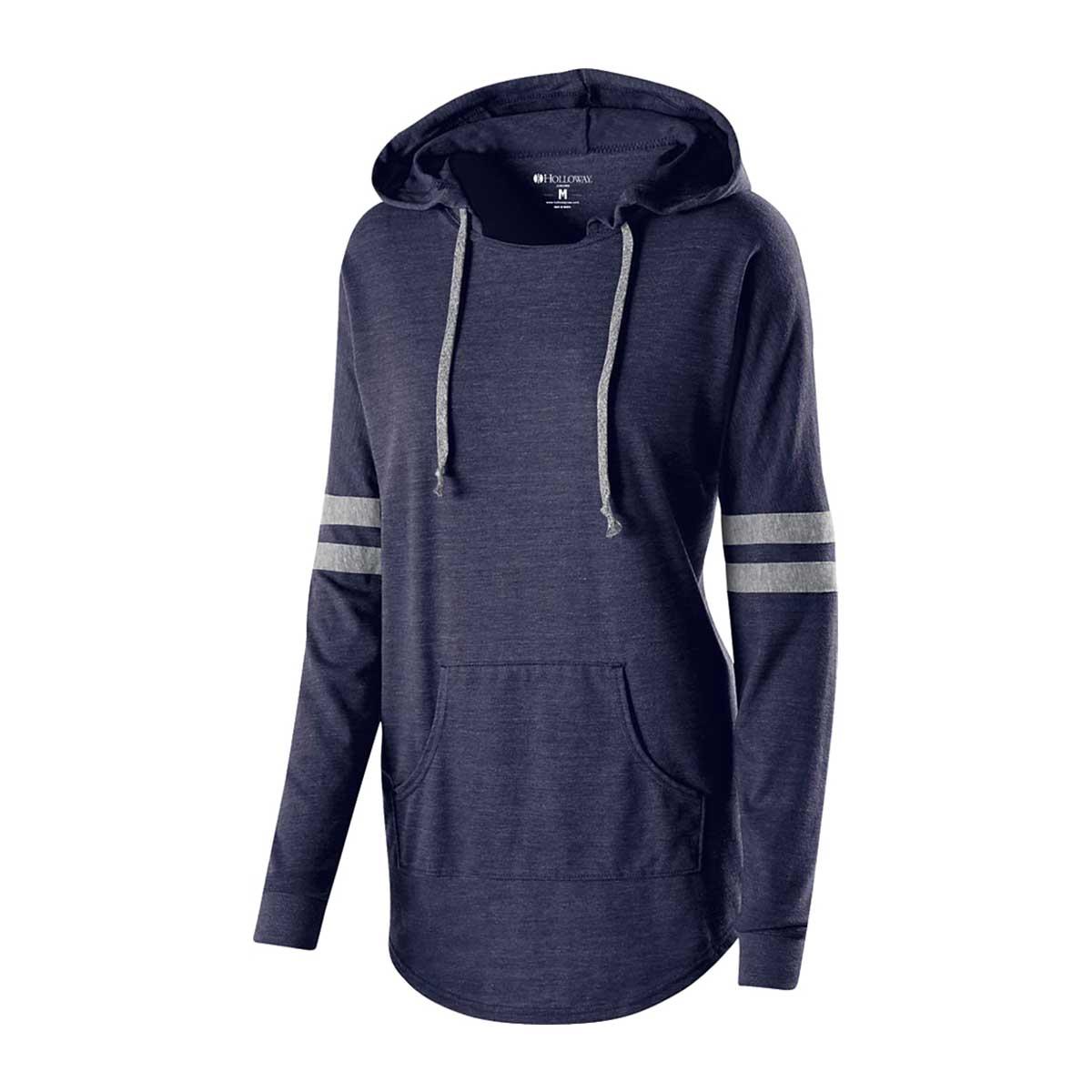 Navy ladies heather game day sweatshirt