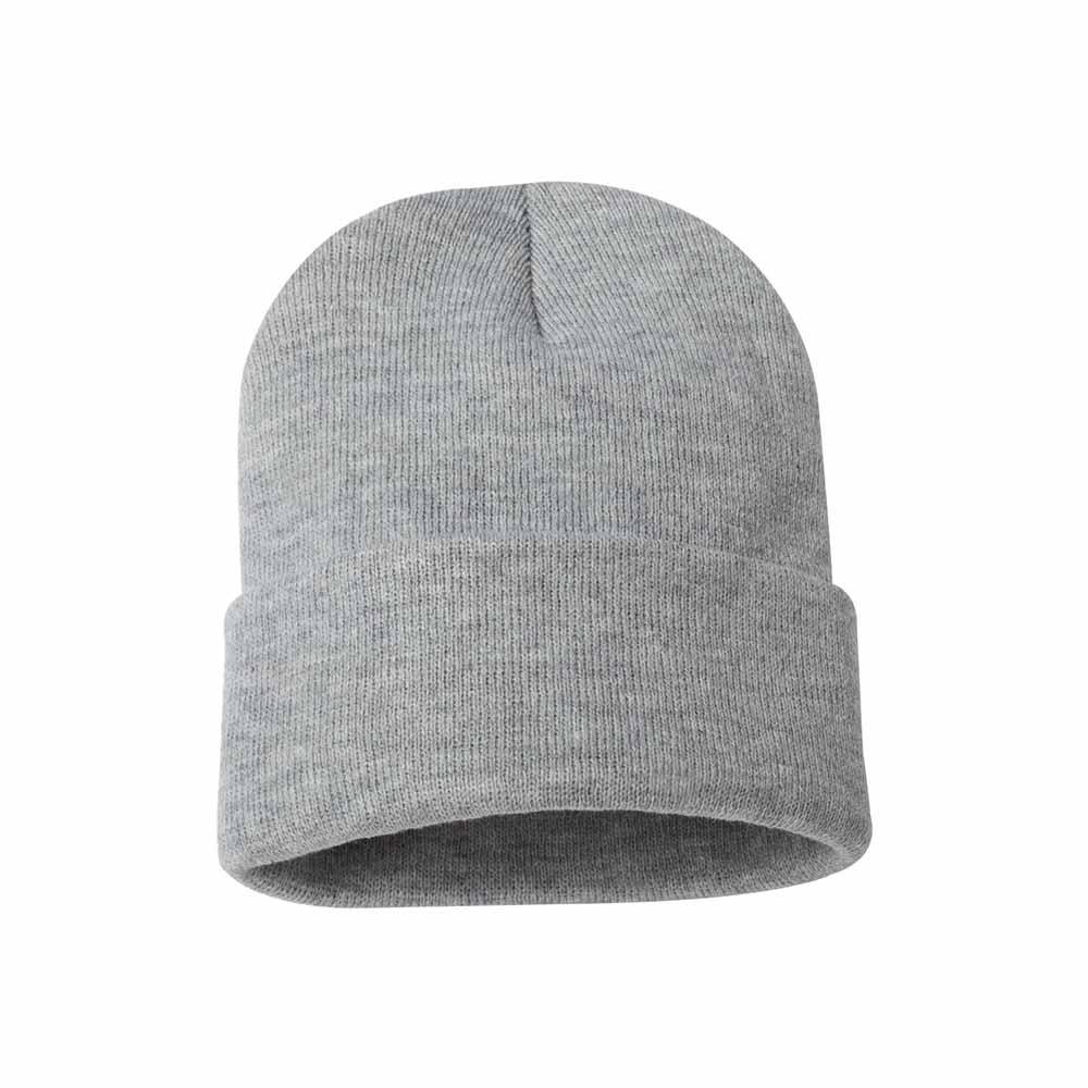 Gray fold over beanie