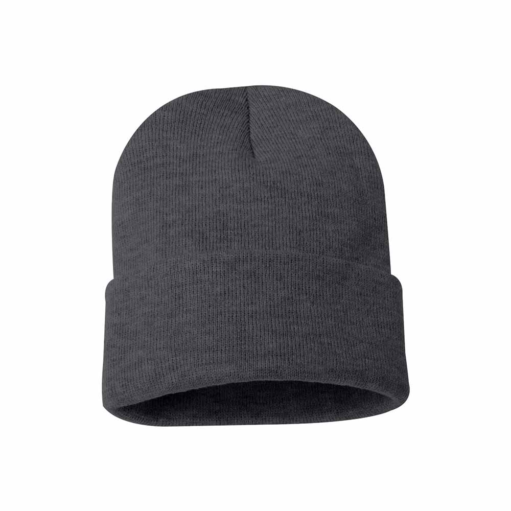 Charcoal fold over beanie