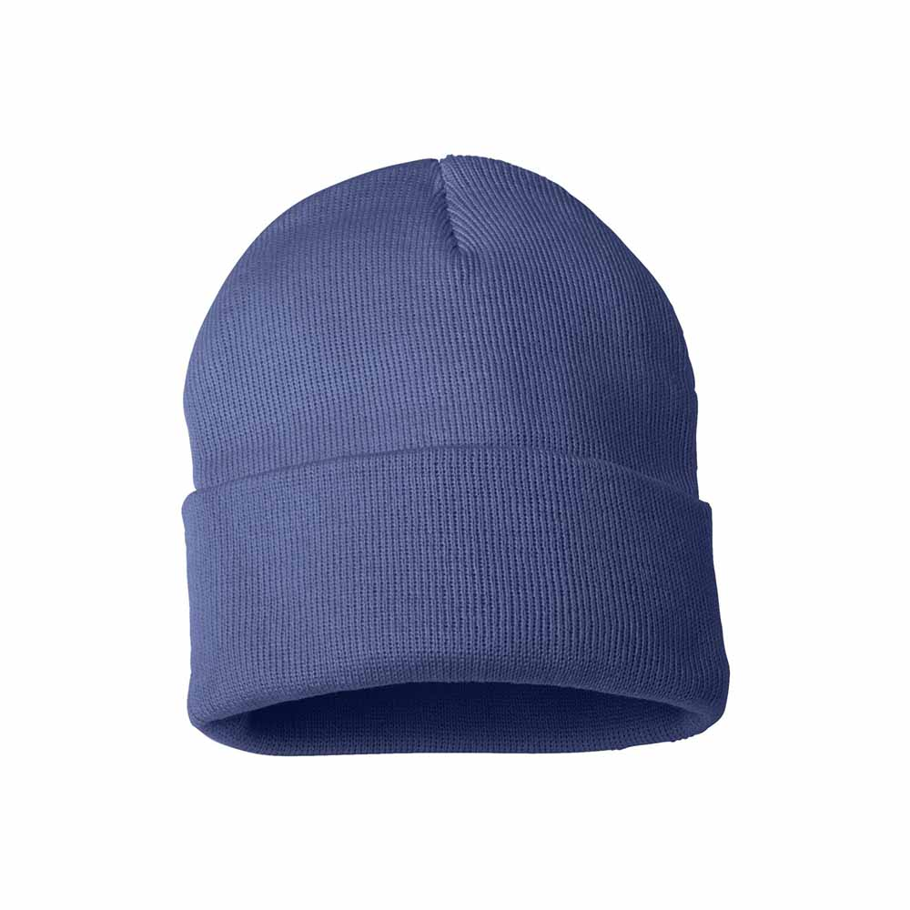 Periwinkle fold over beanie