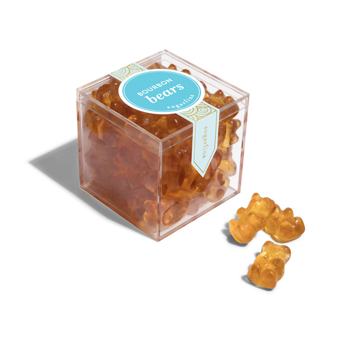 Burbon small candy cube full color label classic candy