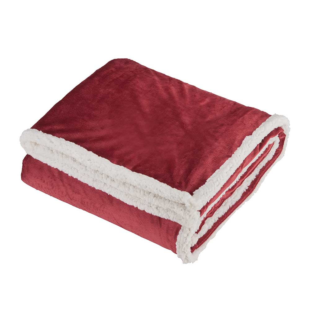 Fuzzy throw red