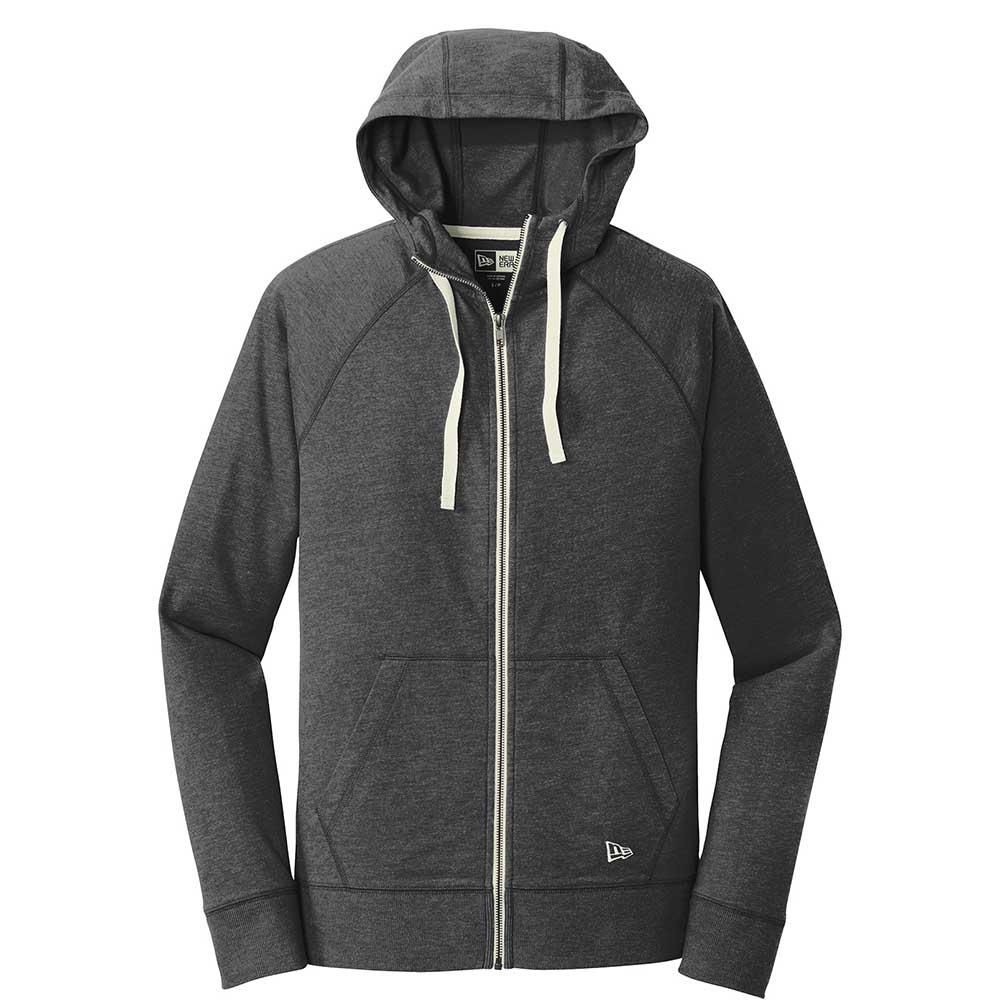 Charcoal new era fleece zip hoodie