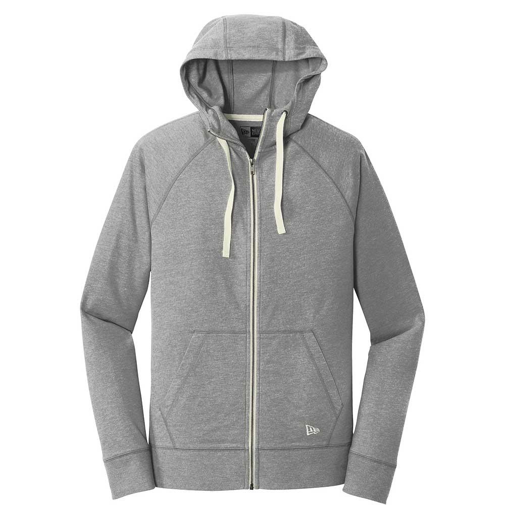 Gray new era fleece zip hoodie