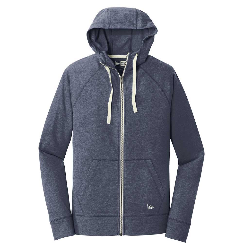 Navy new era fleece zip hoodie