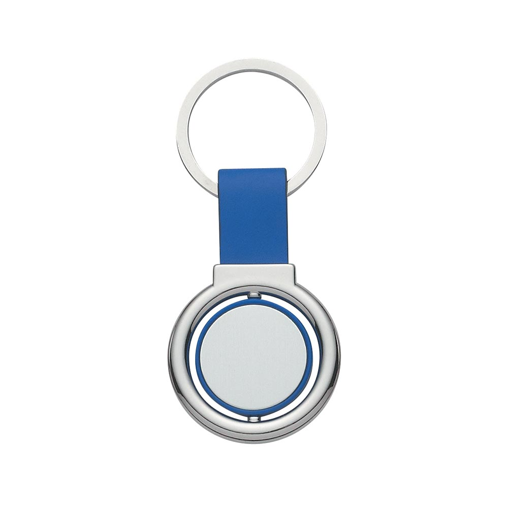 Blue colorful spin keyring