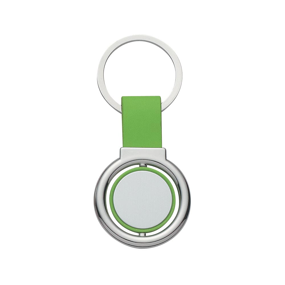 Lime colorful spin keyring