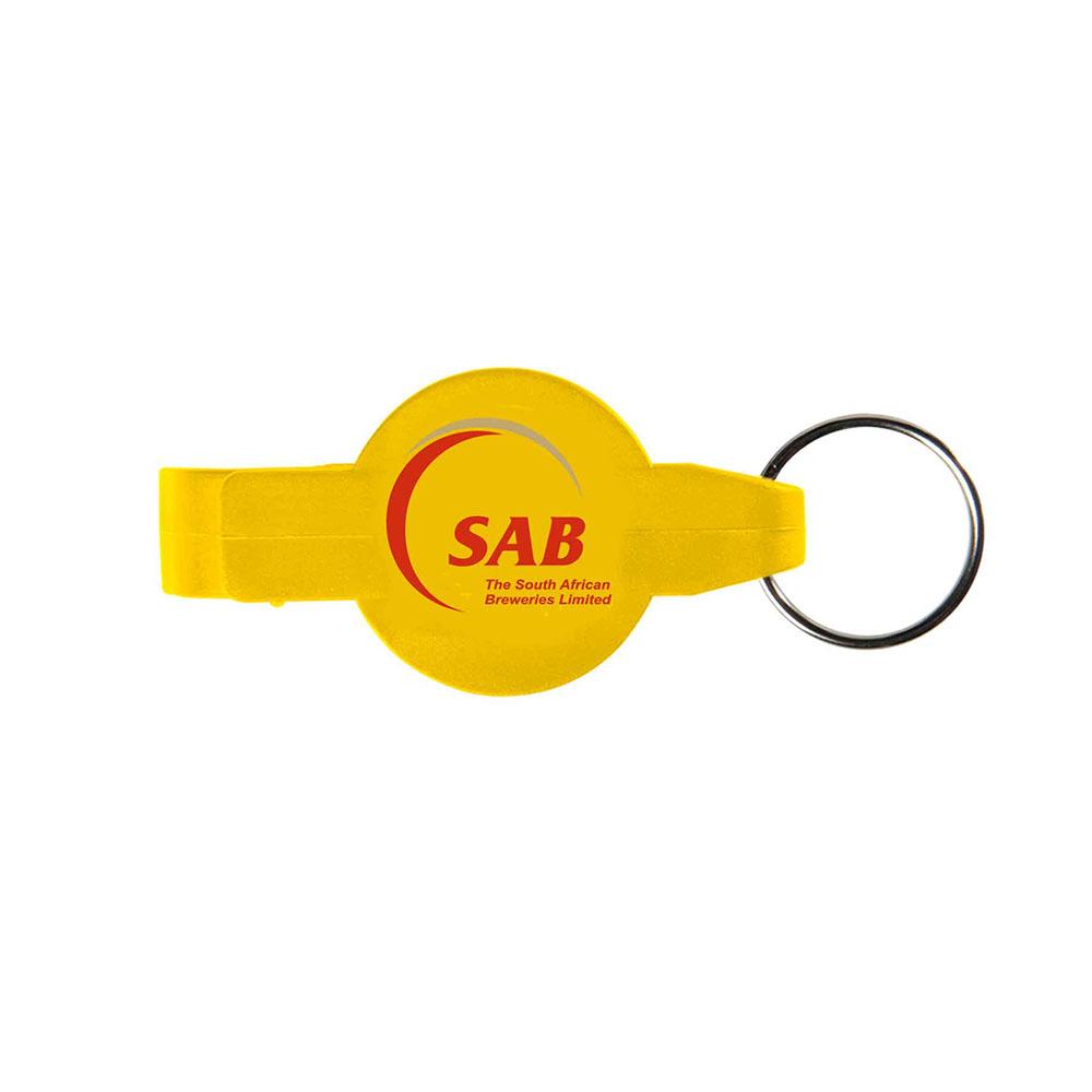 Yellow key opener ring