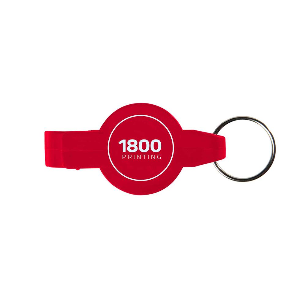 Red key opener ring
