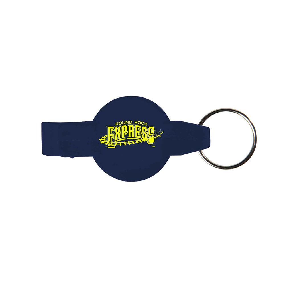 Darkblue key opener ring