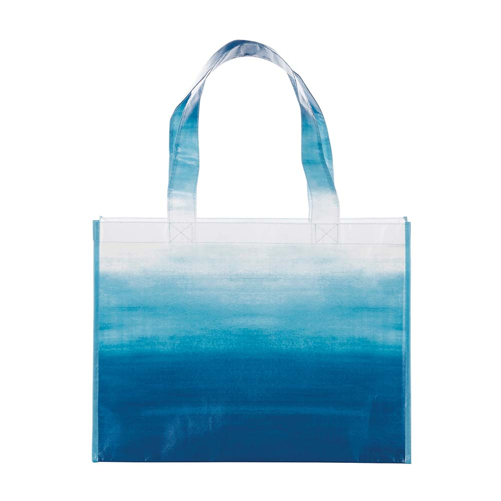Watercolor blue tote