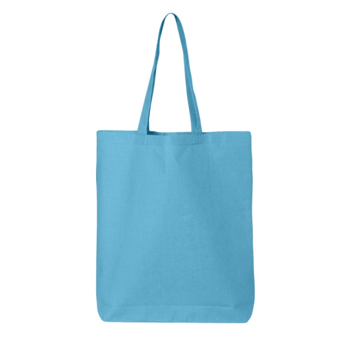 Teal gusset tote light