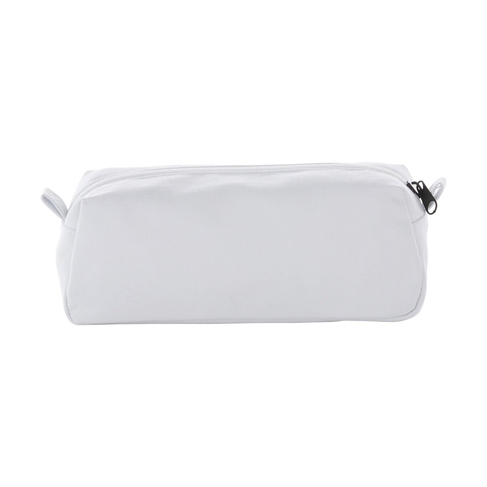 White canvas travel pouch