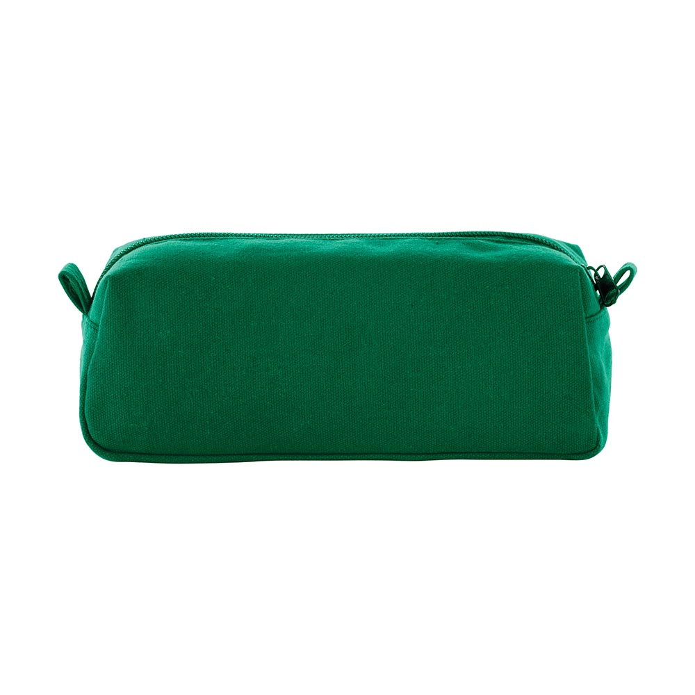 Green canvas travel pouch