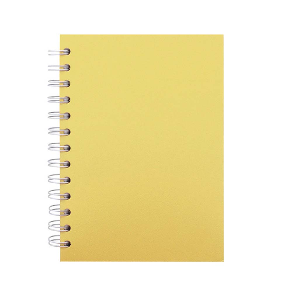 Yellow leather spiral notebook