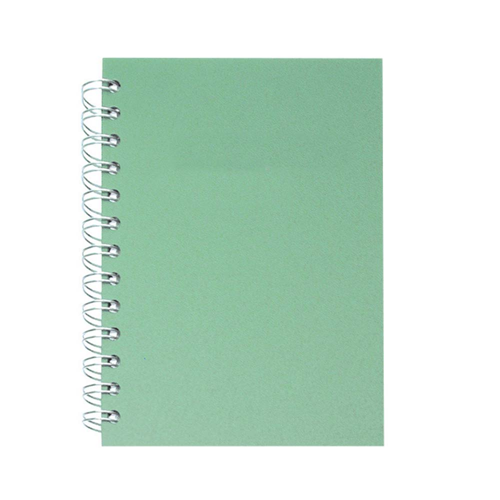 Mint leather spiral notebook