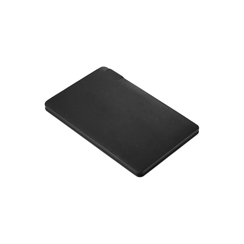 Black wallet power bank
