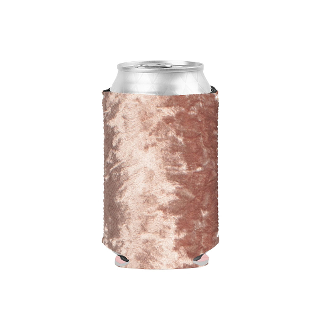 Pink velvet koozie