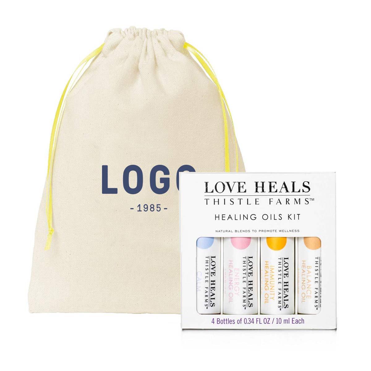 130246 healing oils box set oils with custom cotton gift bag
