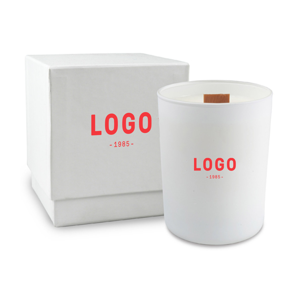 130245 nouveau soy candle one color imprint on candle and box