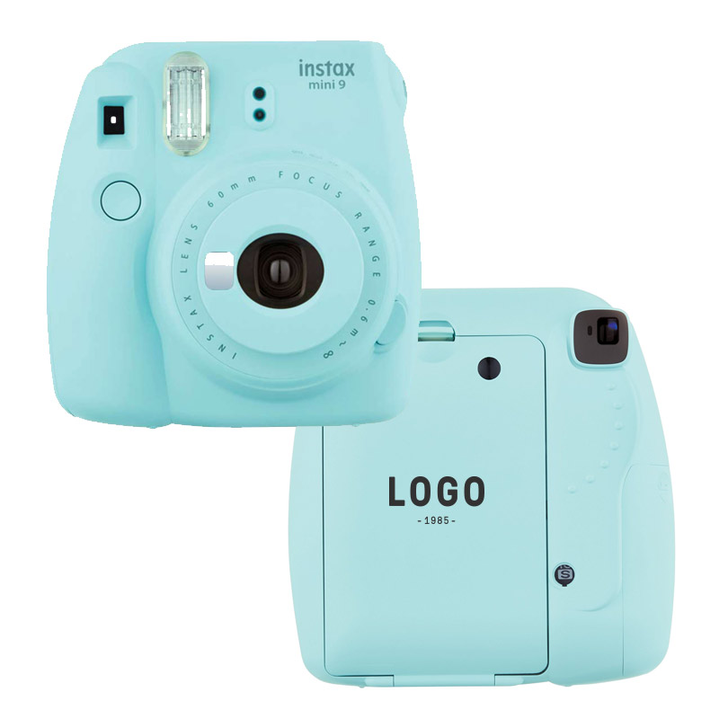 130222 instax mini 9 camera bundle one color imprint back of camera