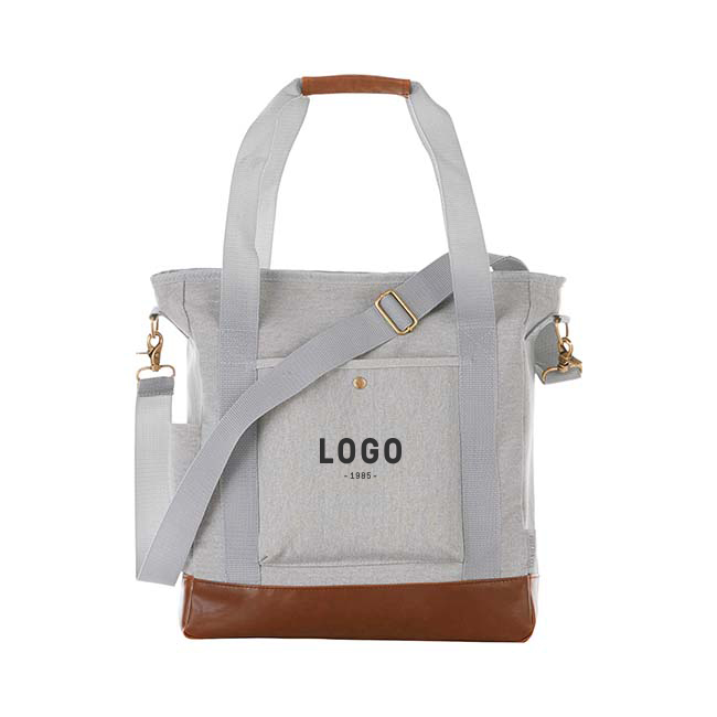 130195 upstate commuter tote one color one location imprint