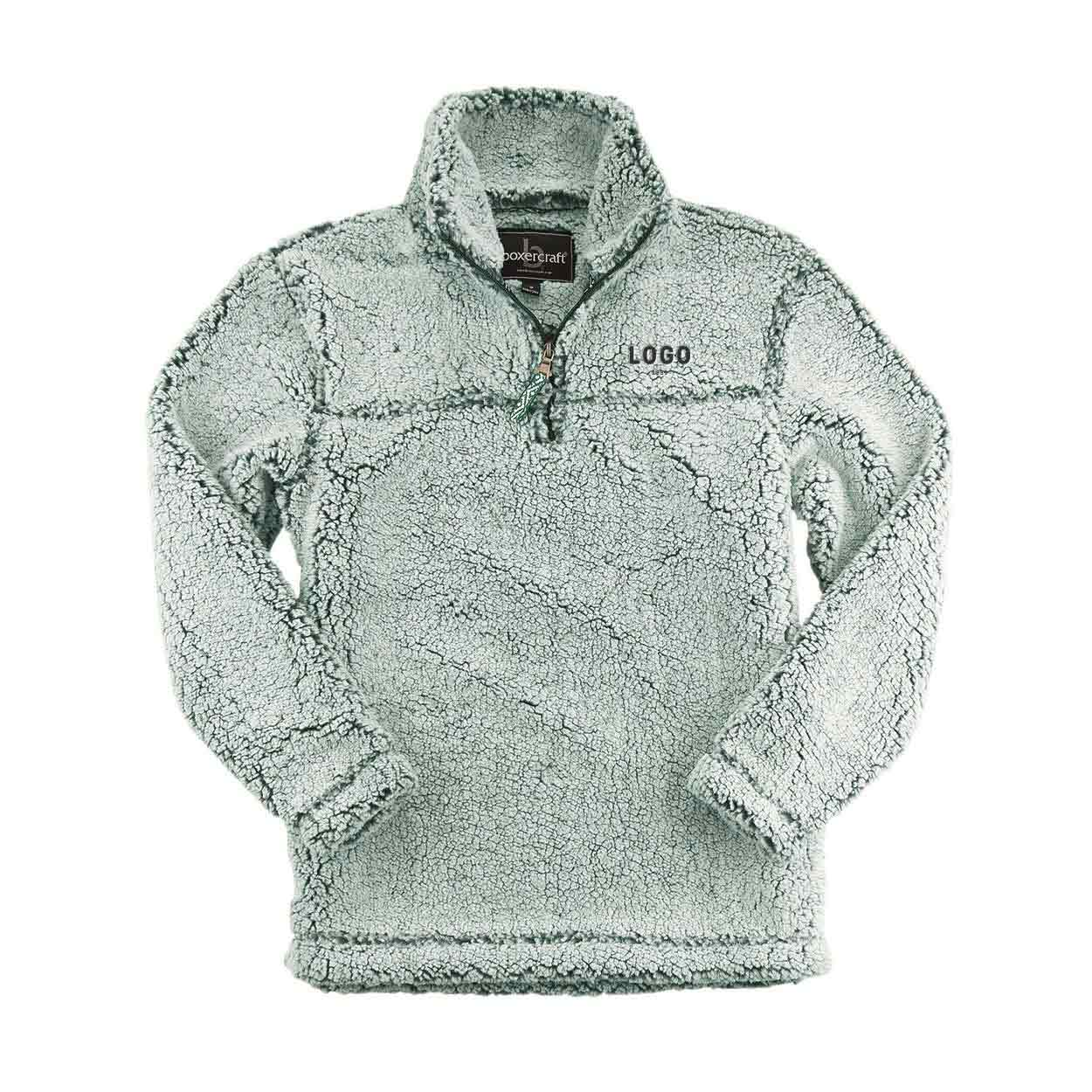 130189 sherpa quarter zip pullover embroidered up to 8k stitches