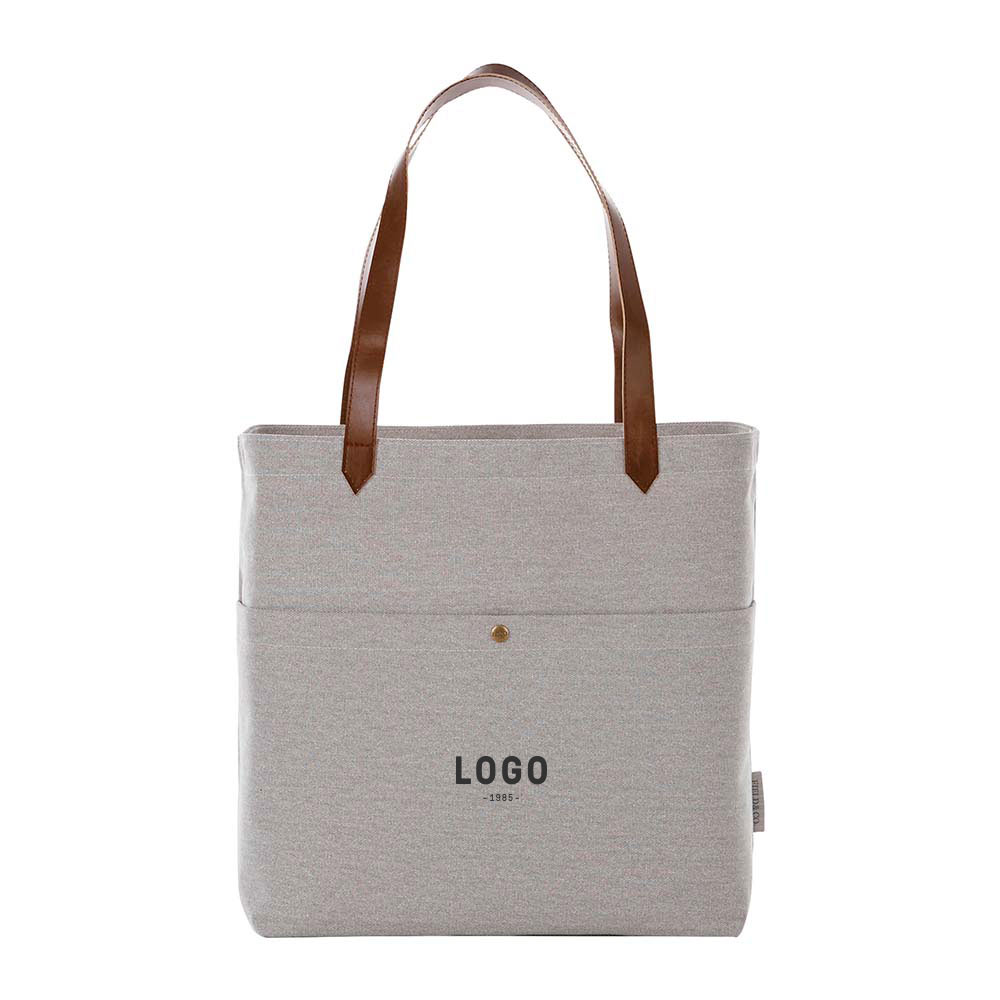 130179 harvard canvas tote one color one location imprint