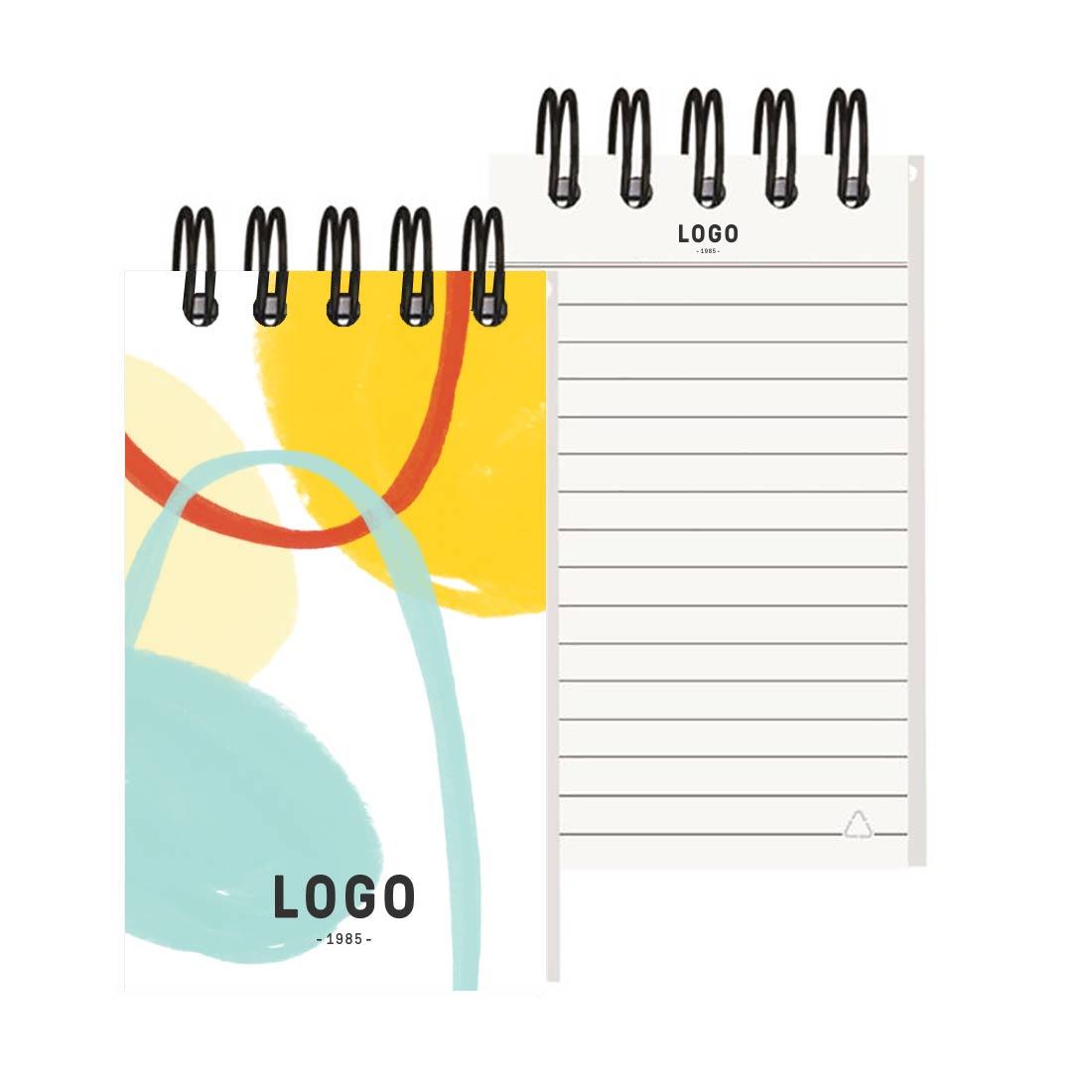 130173 spiral jotter notebook full color cover imprinted logo paper