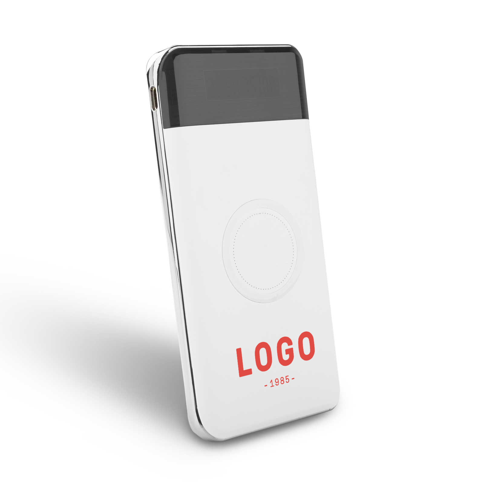 127784 wireless charger bank one color imprint
