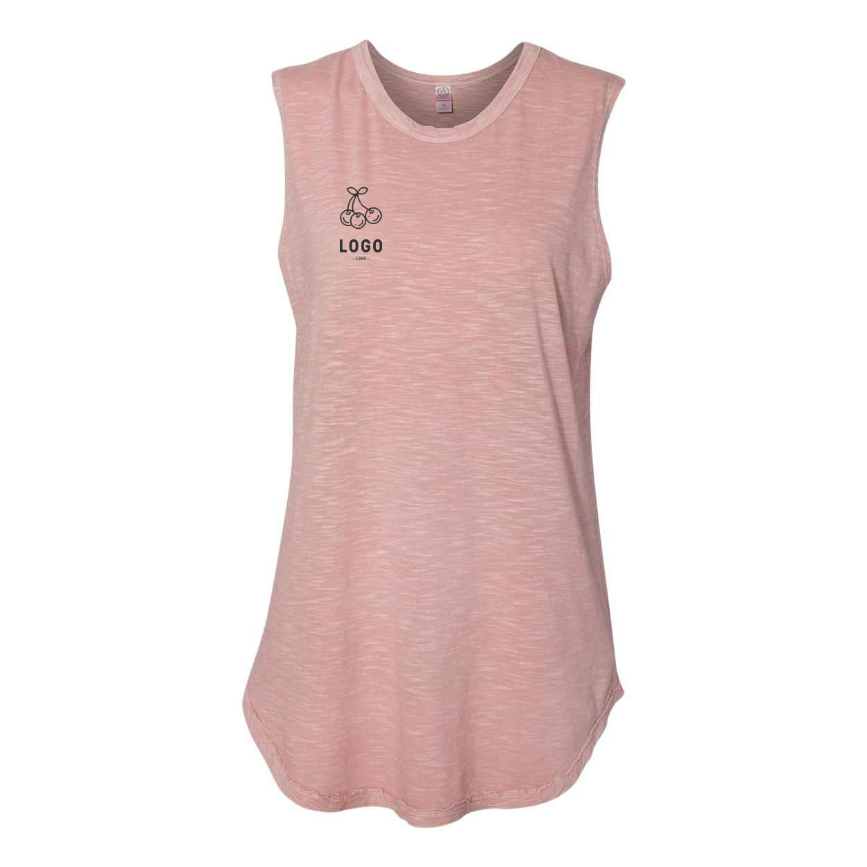 122726 women s inside out sleeveless tee one color imprint
