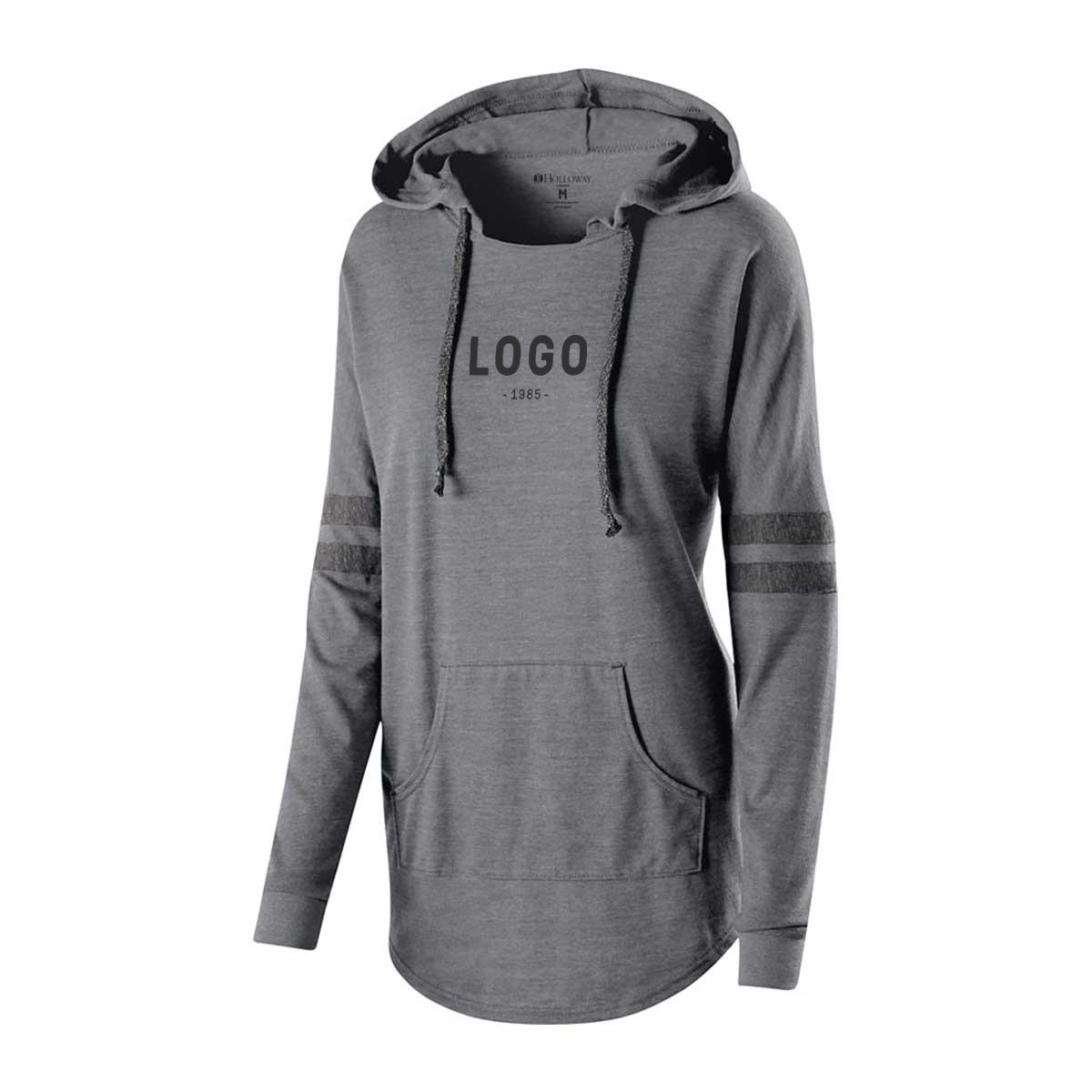 122725 ladies heather game day sweatshirt one color one location imprint
