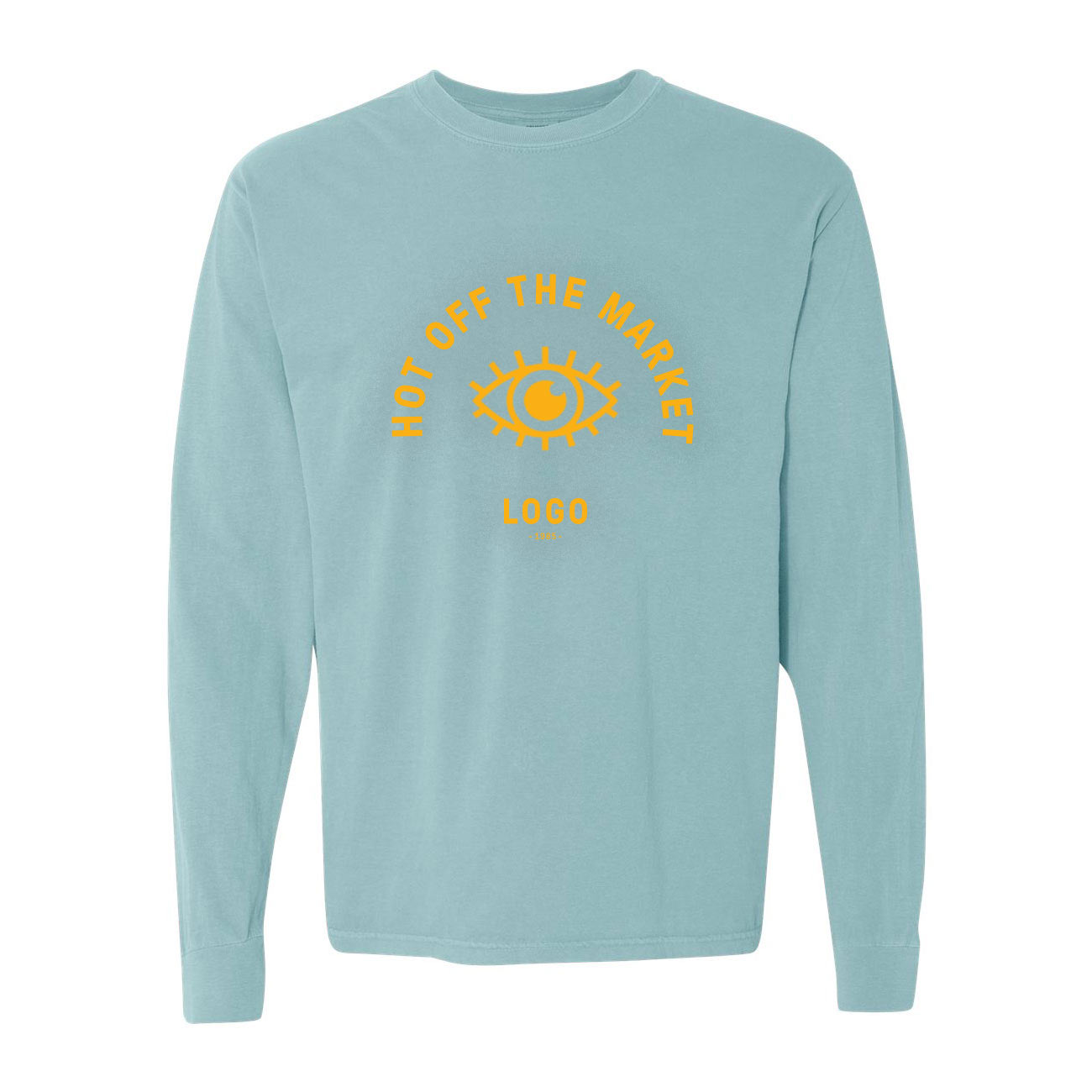 122724 garment dyed heavyweight long sleeve tee one color one location screen