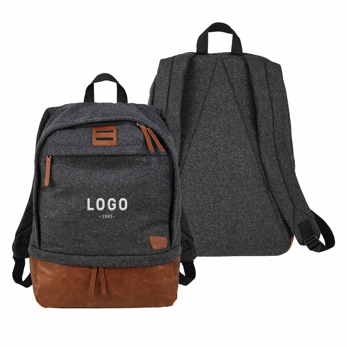 122722 terra wool backpack one location embroidery up to 8k stitches