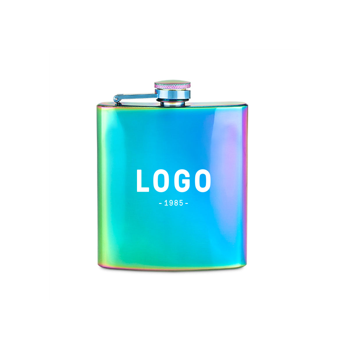 122696 unicorn flask one color one location imprint