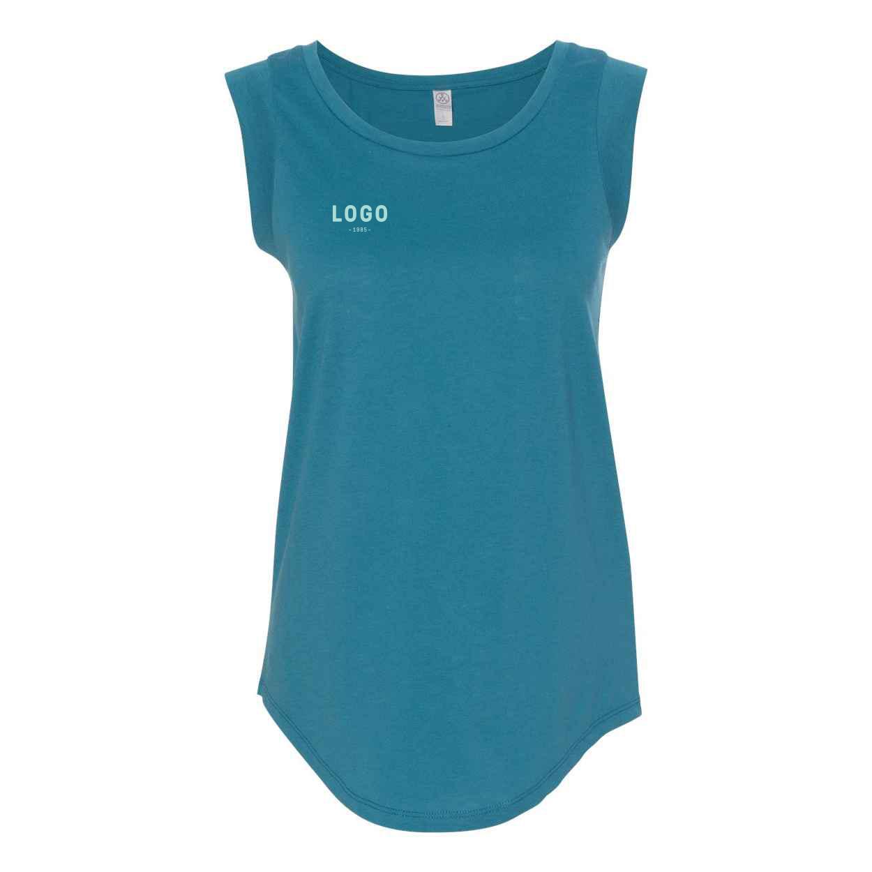 122688 cap sleeve satin jersey crew t shirt one color imprint