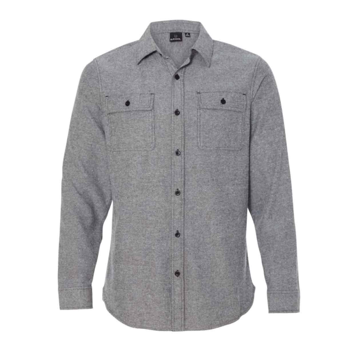 Ssactivewear longsleevefannelshirt heathergray