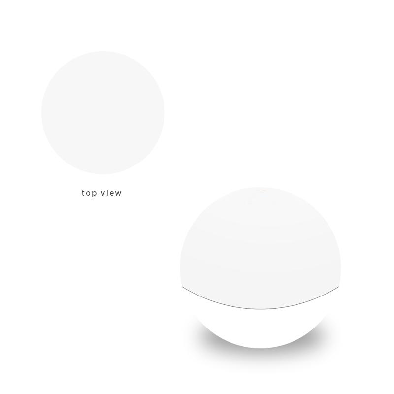 White top view round balm