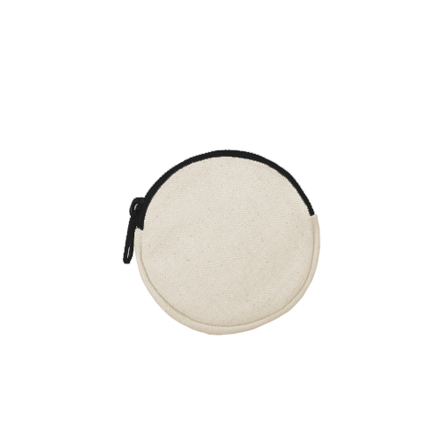 Round pouch black