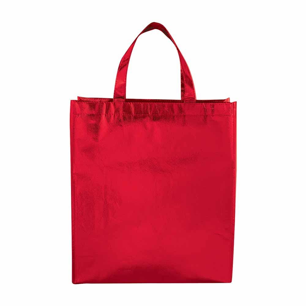 Red metallic tote starlight