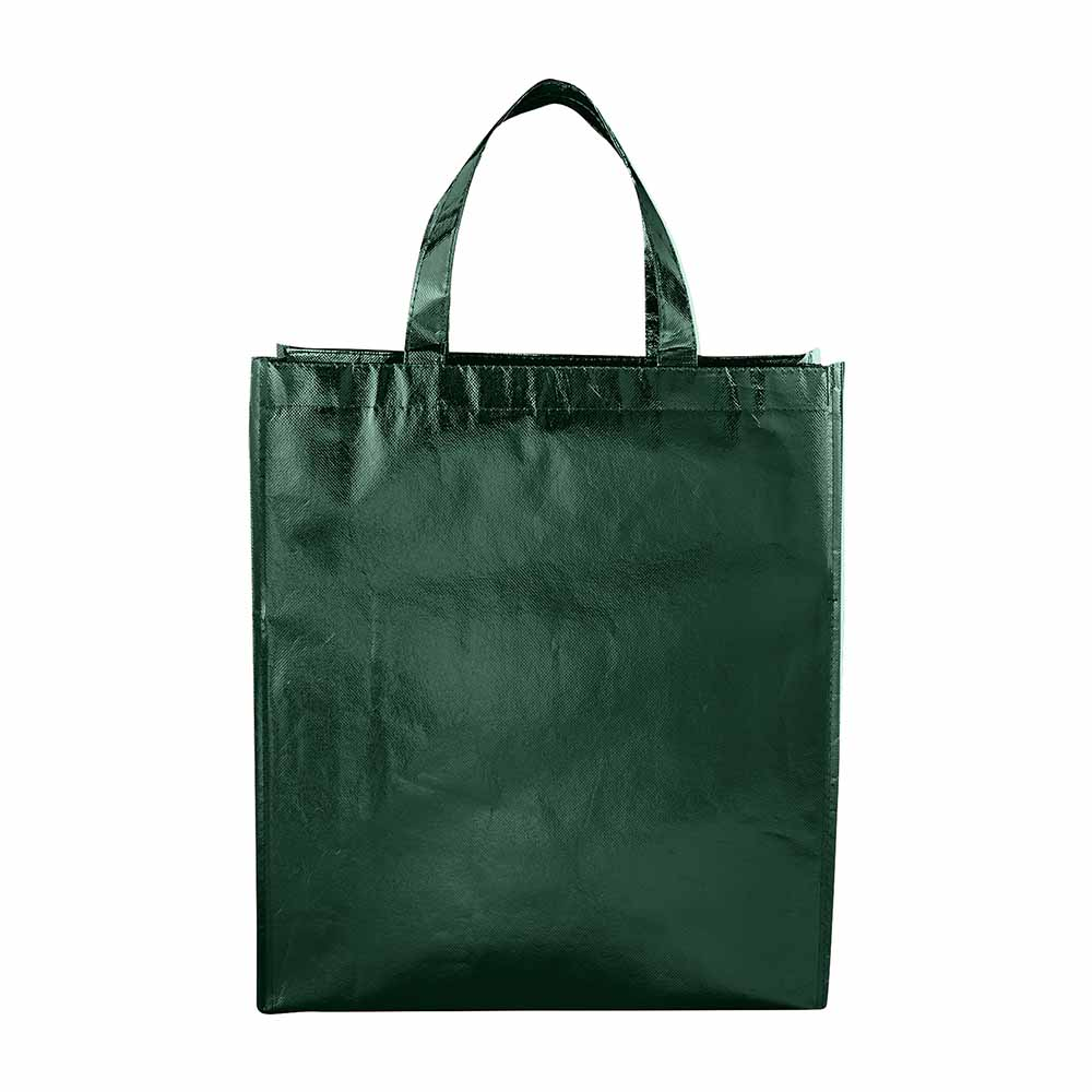 Green metallic tote starlight
