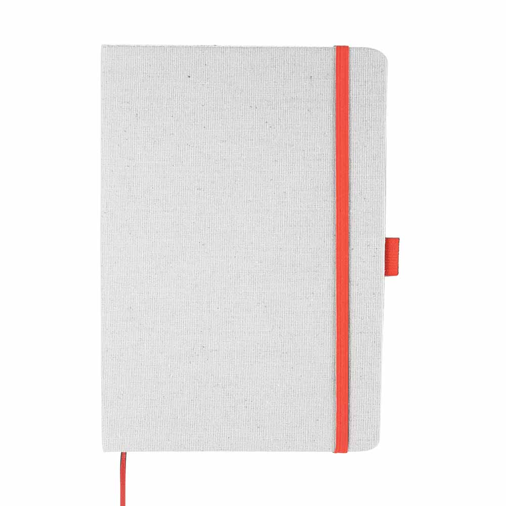 Coral lunar canvas notebook