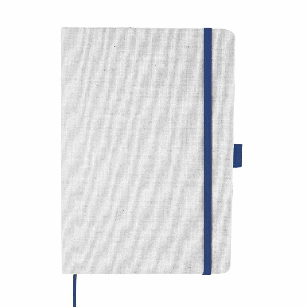 Blue lunar canvas notebook