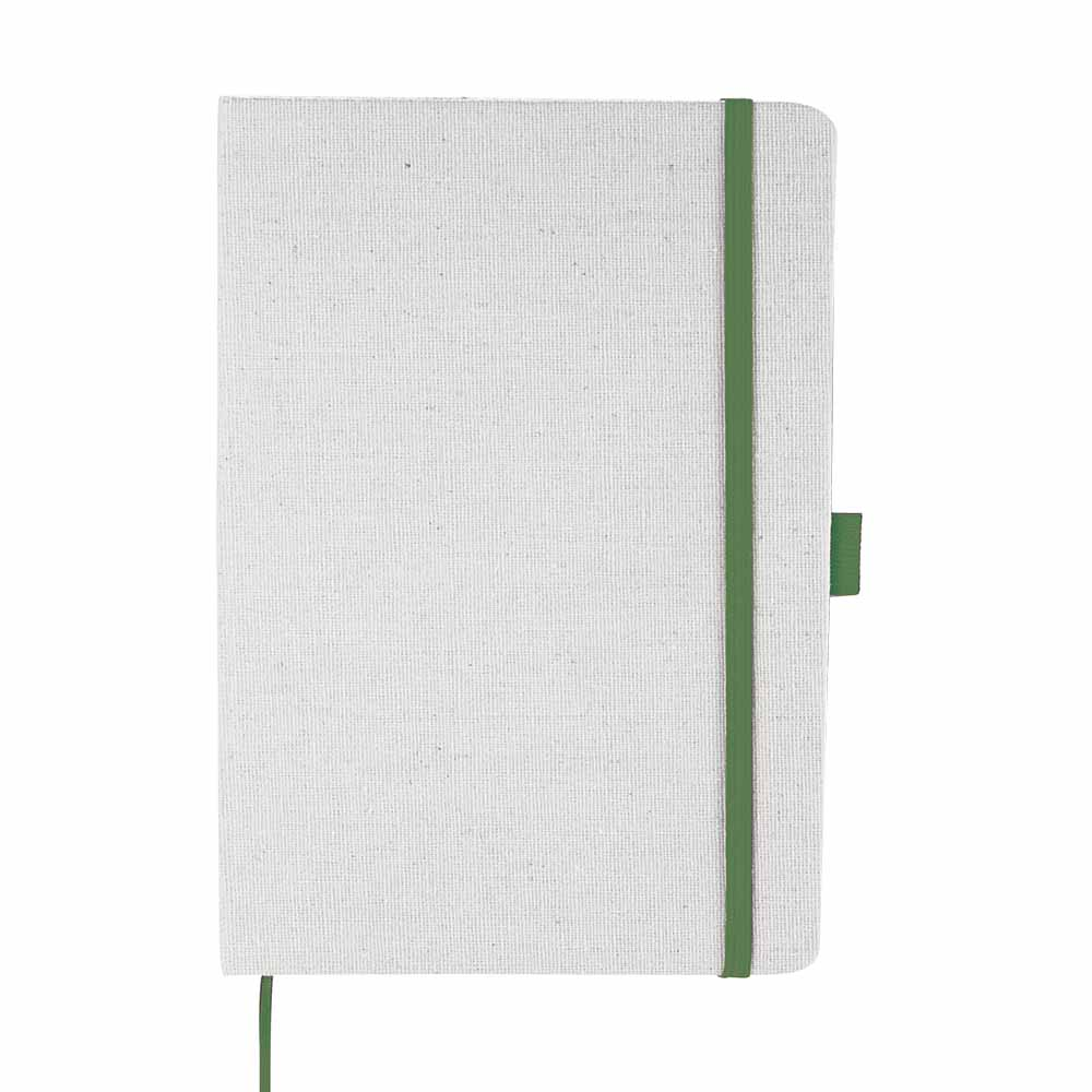 Green lunar canvas notebook