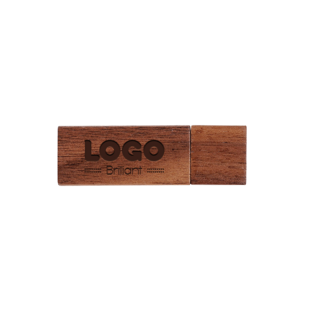 137887 walnut usb drive engraving or one color imprint