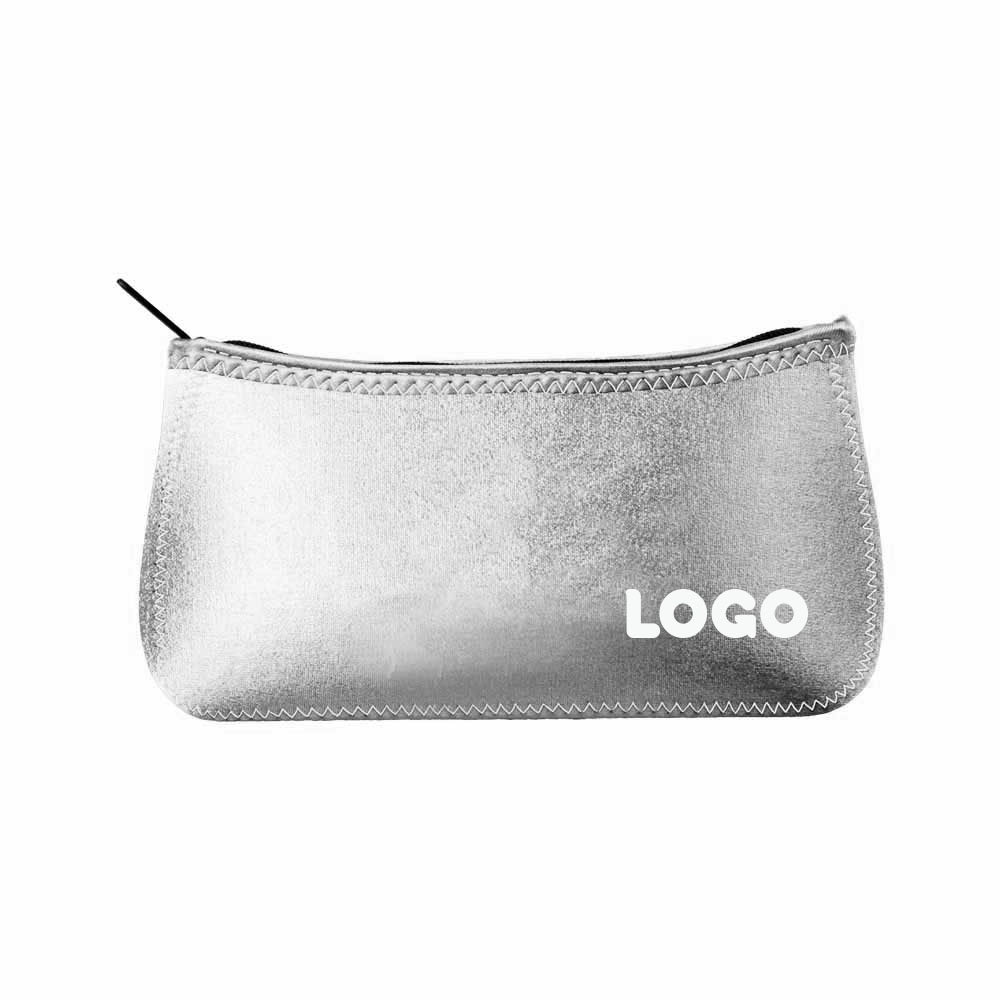 134876 large maine metallic pouch one color one location imprint