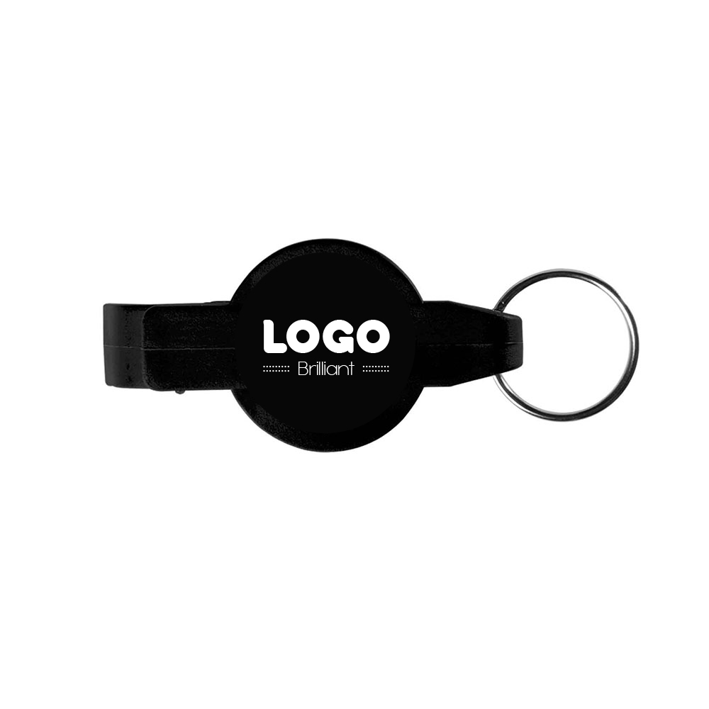 134864 round opener key ring one color one location imprint