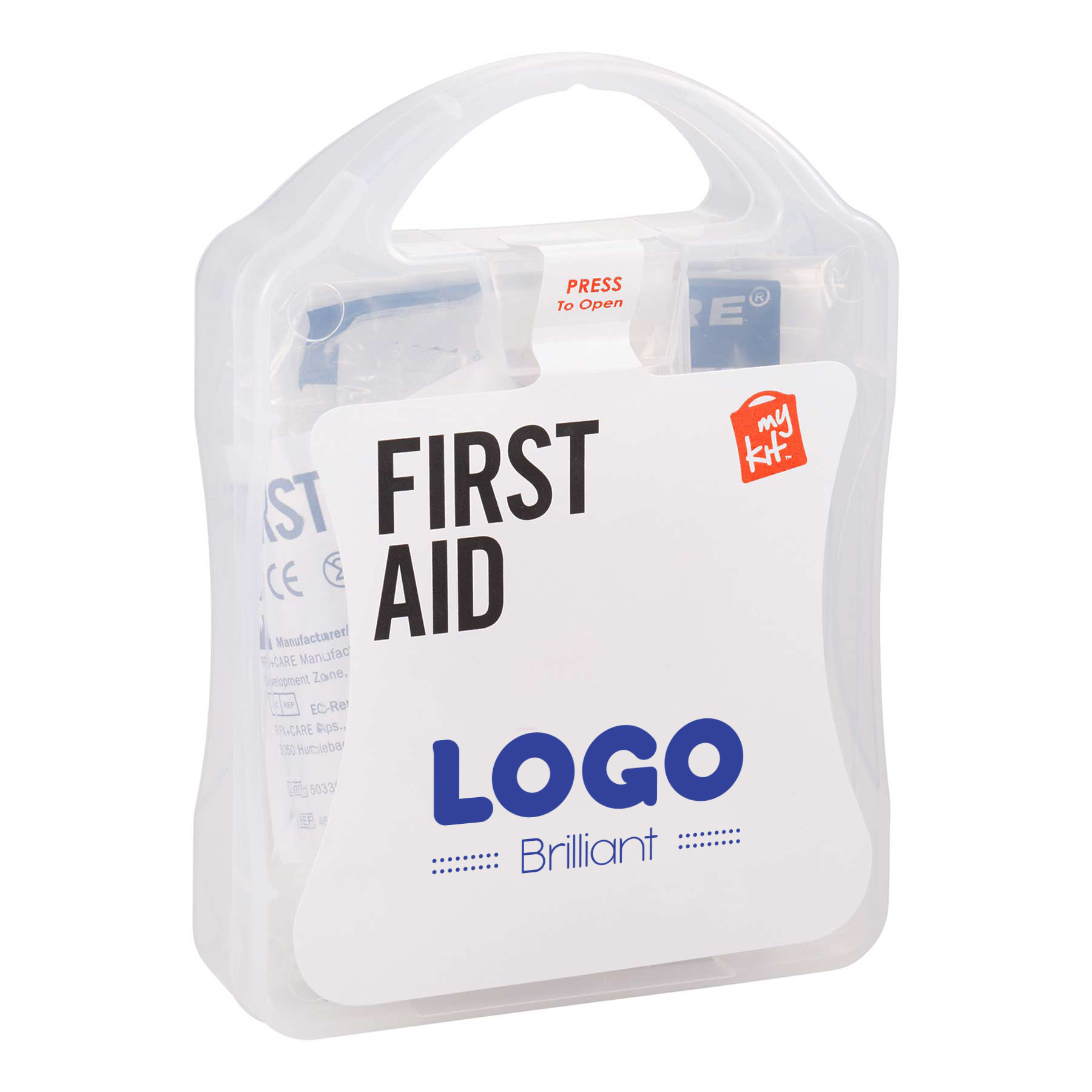134856 21 piece first aid kit one color imprint